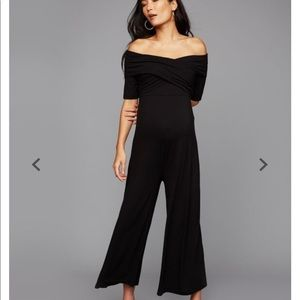 Off Shoulder Maternity jumpsuit